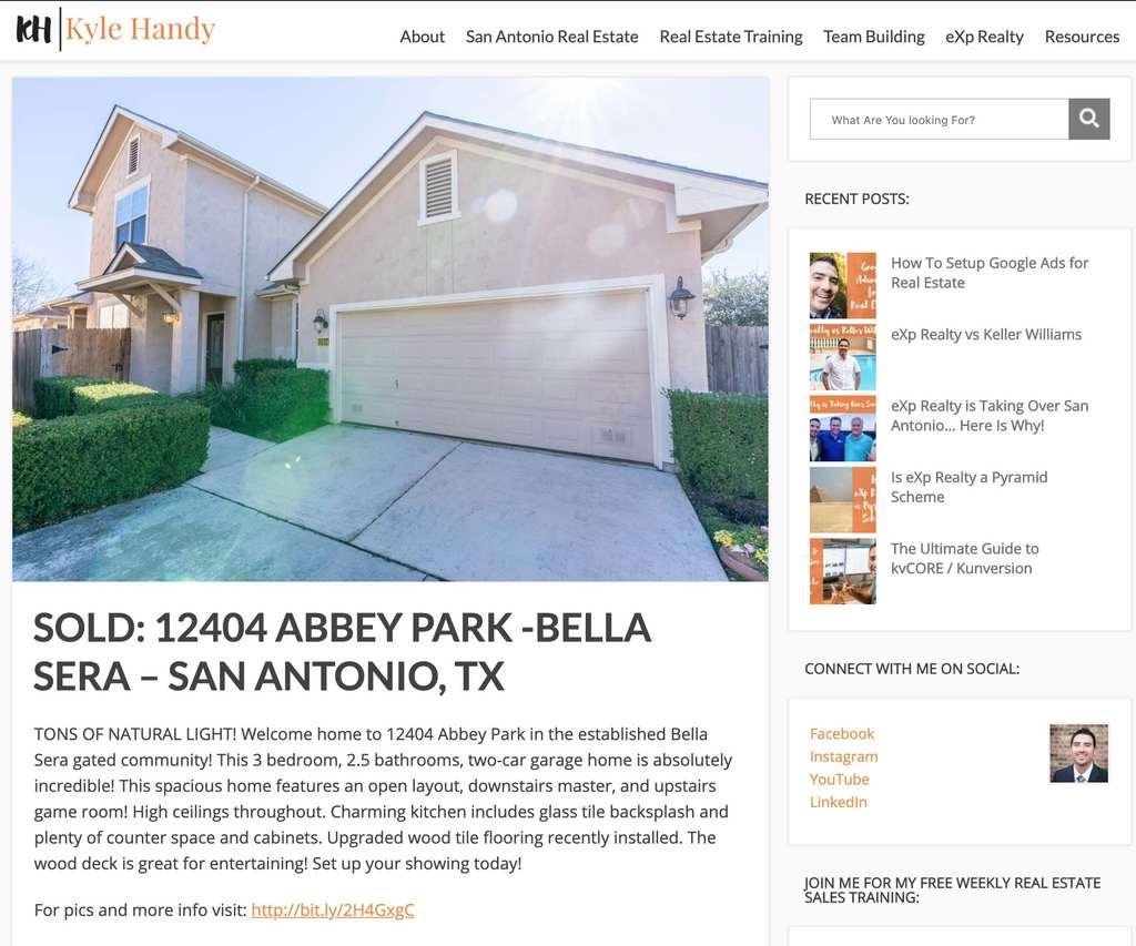 Blog Post real estate listing marketing plan